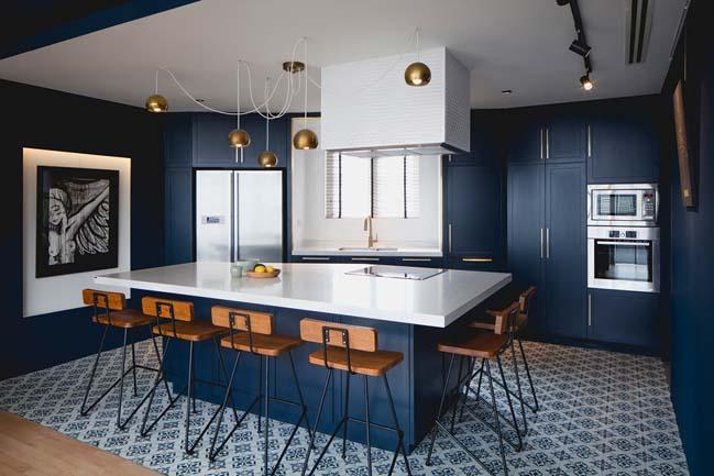 22 mẫu nhà bếp đẹp với tông màu xanh