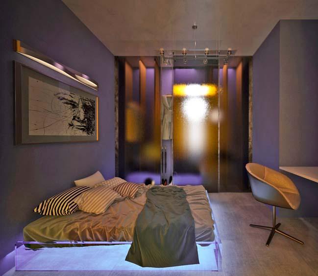 Mẫu nhà đẹp lung linh với hệ thống đèn LED
