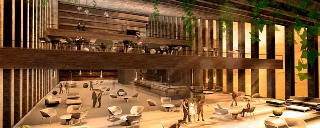 Khách sạn sang trọng với kiến trúc nghiêng độc đáo