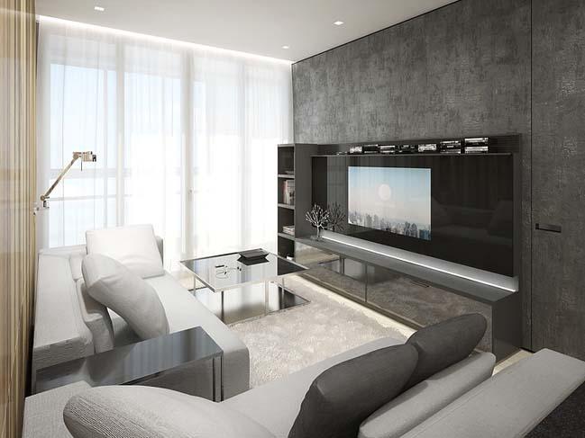 Mẫu nội thất đẹp cho căn hộ chung cư nhỏ 55m2