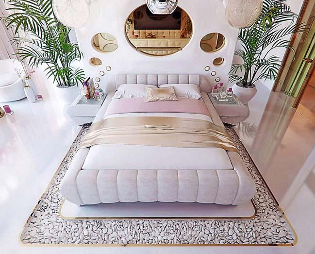 Mẫu phòng ngủ đẹp sang trọng lung linh đầy nữ tính