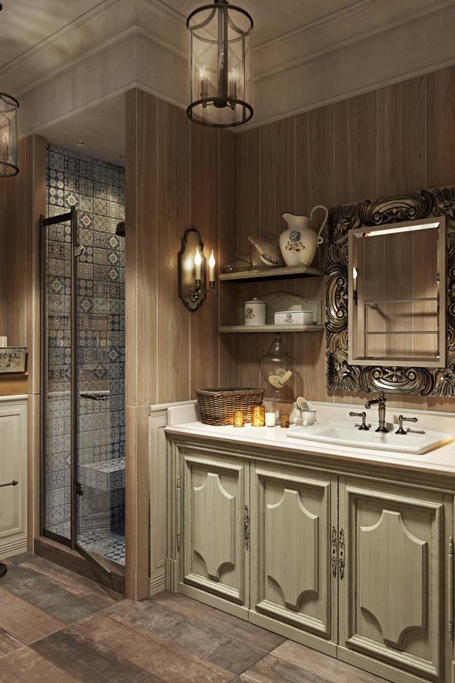 Mẫu phòng tắm đẹp với thiết kế cổ điển