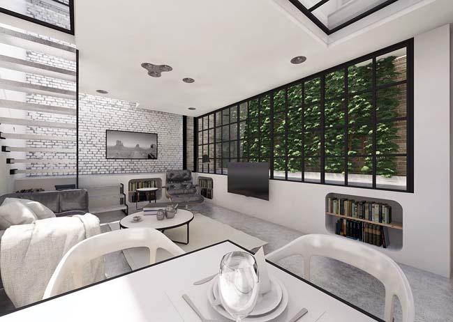 Mẫu nhà 2 tầng đơn giản với xây dựng hiện đại
