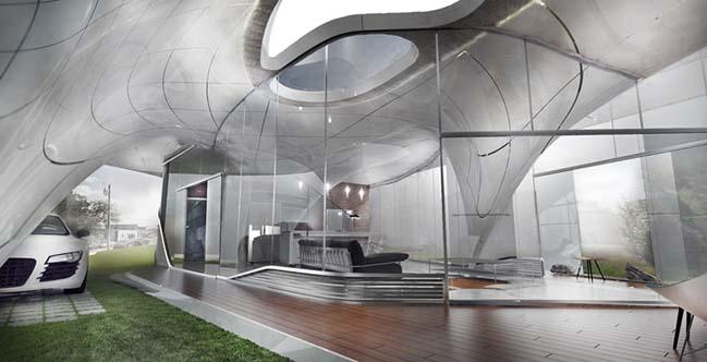 Ngôi nhà đẹp được xây dựng với công nghệ in 3D