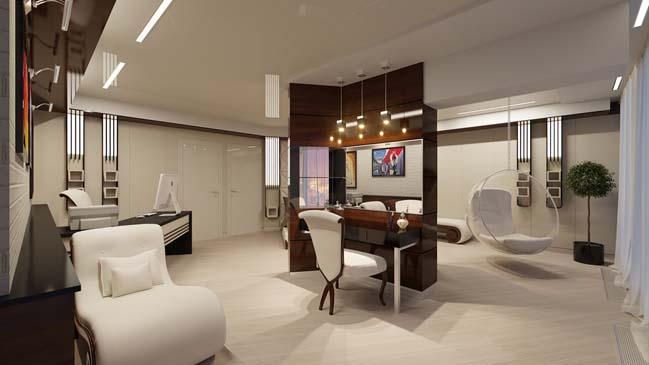 Mẫu penthouse với thiết kế đương đại sang trọng