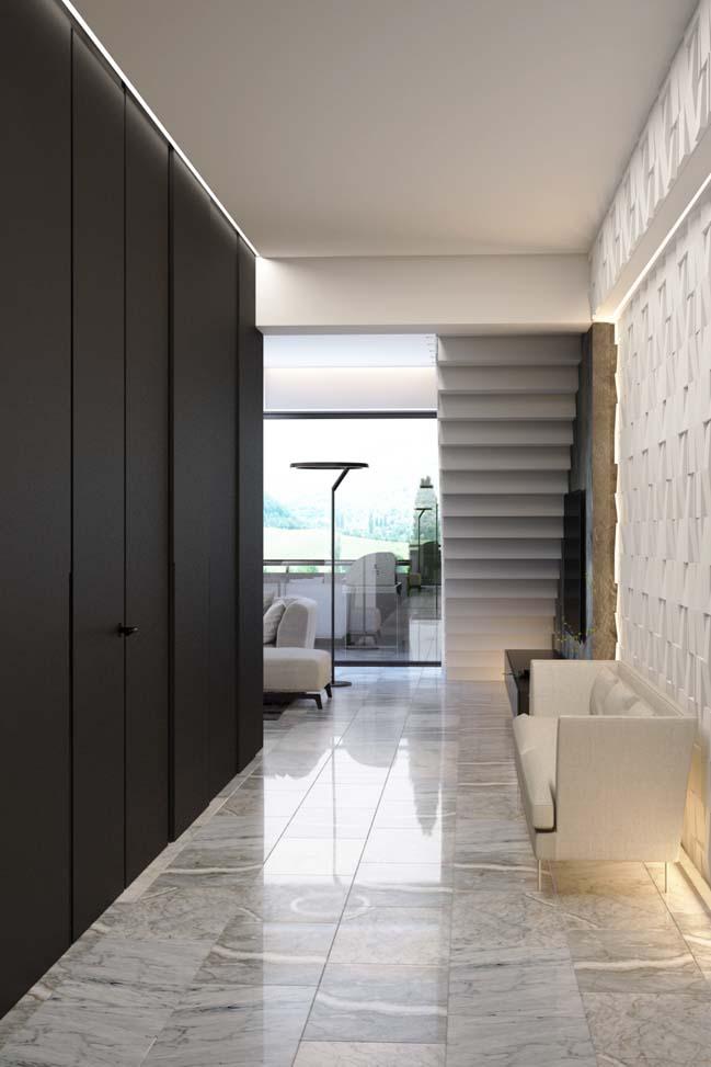 Căn hộ duplex penthouse với thiết kế hiện đại sang trọng