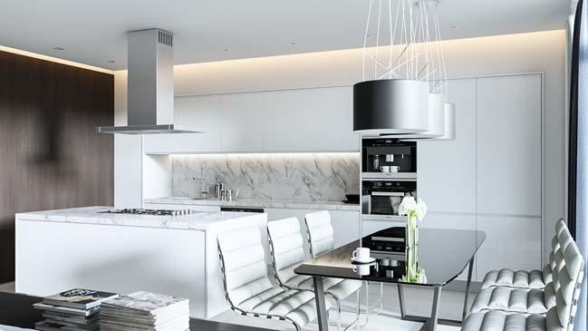 Mẫu thiết kế sang trọng cho căn hộ chung cư 1 phòng ngủ