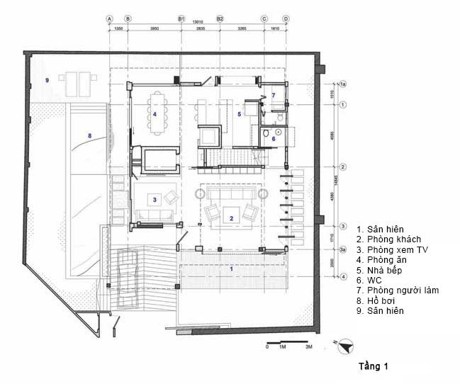 biet thu dep 13 Chia sẻ Mẫu thiết kế biệt thự đẹp mộc mạc với những vật liệu đơn giản