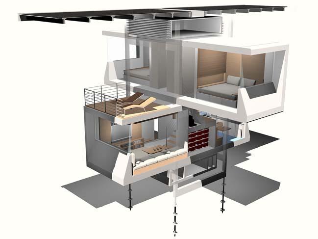 Nhà lắp ghép với thiết kế xanh cho tương lai