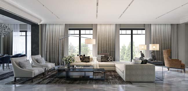 Những mẫu phòng khách đẹp với không gian mở