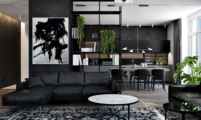 phong khach dep voi khong gian mo 03 Cùng nhìn qua những mẫu phòng khách đẹp với không gian mở