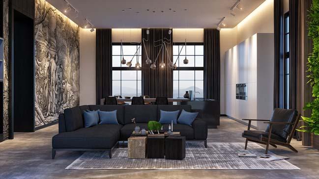 phong khach dep voi khong gian mo 09 Cùng nhìn qua những mẫu phòng khách đẹp với không gian mở