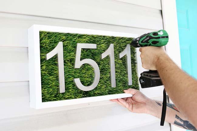 DIY: Tự tay làm biển số nhà thật phong cách