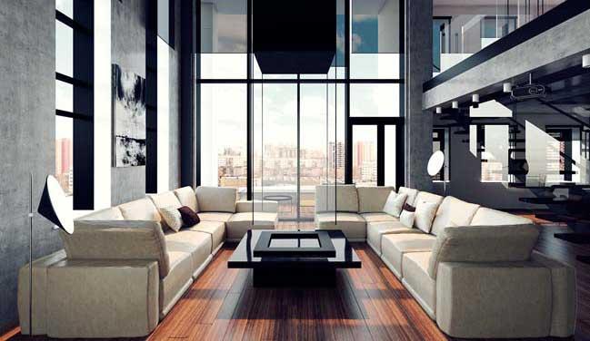 Mẫu penthouse sang trọng cho quý ông độc thân