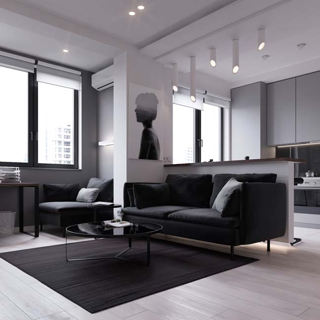 can ho chung cu 45m2 02 Mẫu thiết kế nội thất cho căn hộ chung cư 45m2 tối ưu hóa không gian