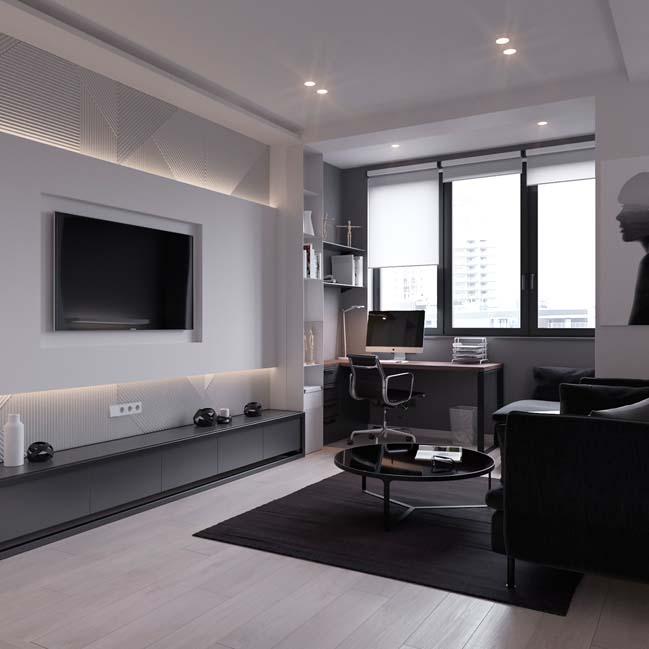can ho chung cu 45m2 03 Mẫu thiết kế nội thất cho căn hộ chung cư 45m2 tối ưu hóa không gian