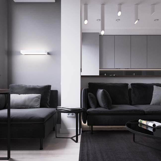 can ho chung cu 45m2 04 Mẫu thiết kế nội thất cho căn hộ chung cư 45m2 tối ưu hóa không gian