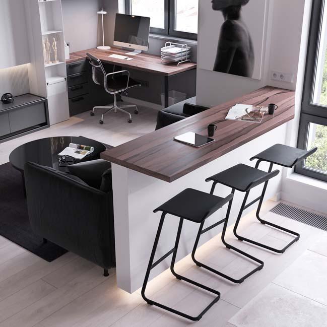 can ho chung cu 45m2 05 Mẫu thiết kế nội thất cho căn hộ chung cư 45m2 tối ưu hóa không gian