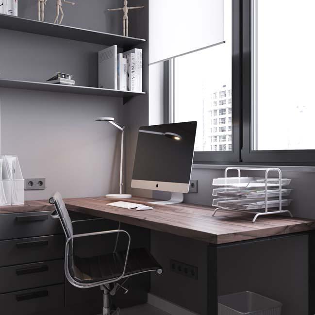 can ho chung cu 45m2 06 Mẫu thiết kế nội thất cho căn hộ chung cư 45m2 tối ưu hóa không gian