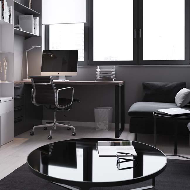 can ho chung cu 45m2 07 Mẫu thiết kế nội thất cho căn hộ chung cư 45m2 tối ưu hóa không gian