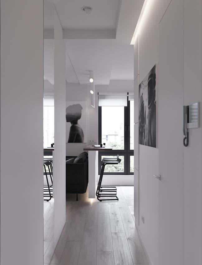 can ho chung cu 45m2 08 Mẫu thiết kế nội thất cho căn hộ chung cư 45m2 tối ưu hóa không gian