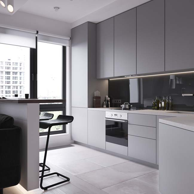can ho chung cu 45m2 10 Mẫu thiết kế nội thất cho căn hộ chung cư 45m2 tối ưu hóa không gian