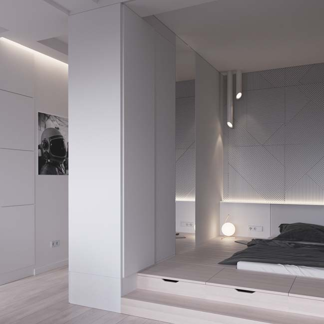Mẫu thiết kế nội thất cho căn hộ chung cư 45m2