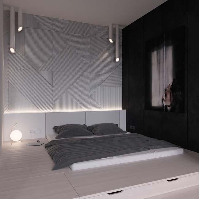 can ho chung cu 45m2 16 Mẫu thiết kế nội thất cho căn hộ chung cư 45m2 tối ưu hóa không gian