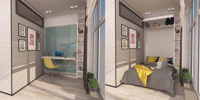 Mẫu thiết kế nội thất đẹp cho căn hộ chung cư nhỏ