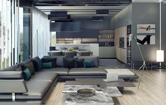 Mẫu biệt thự đẹp 2 tầng với sắc thái màu xám sang trọng