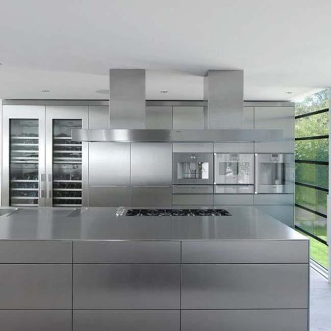 Những mẫu nhà bếp đẹp với hệ tủ inox sang trọng
