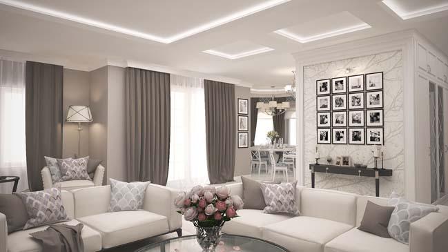 Mẫu căn hộ cao cấp với nội thất cổ điển sang trọng