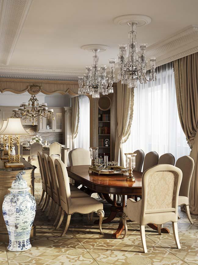 Bên trong ngôi biệt thự với nội thất cổ điển sang trọng