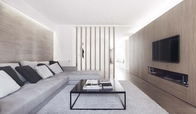 Căn hộ 3 phòng ngủ sang trọng với nội thất gỗ ấm cúng