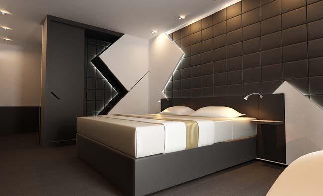 mau phong ngu dep voi tong mau den 01 Khám phá phòng ngủ đẹp với mảng tường màu đen ấn tượng