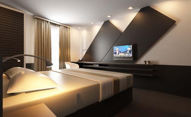mau phong ngu dep voi tong mau den 02 Khám phá phòng ngủ đẹp với mảng tường màu đen ấn tượng