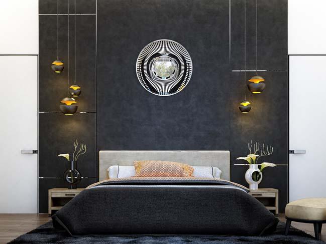 mau phong ngu dep voi tong mau den 05 Khám phá phòng ngủ đẹp với mảng tường màu đen ấn tượng