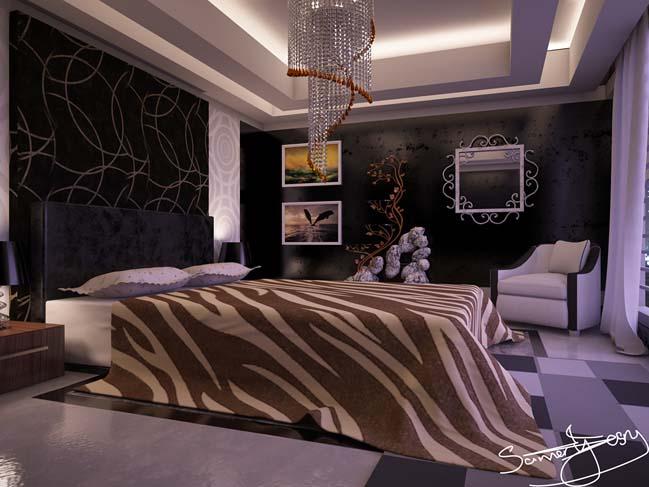 mau phong ngu dep voi tong mau den 08 Khám phá phòng ngủ đẹp với mảng tường màu đen ấn tượng