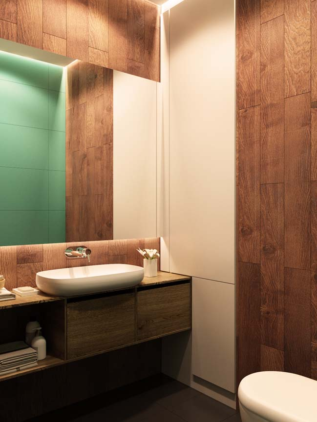 Mẫu nội thất căn hộ chung cư với những màu sắc bắt mắt