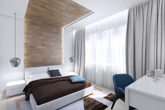 Mẫu nội thất nhà phố đẹp với tông màu sáng trang nhã