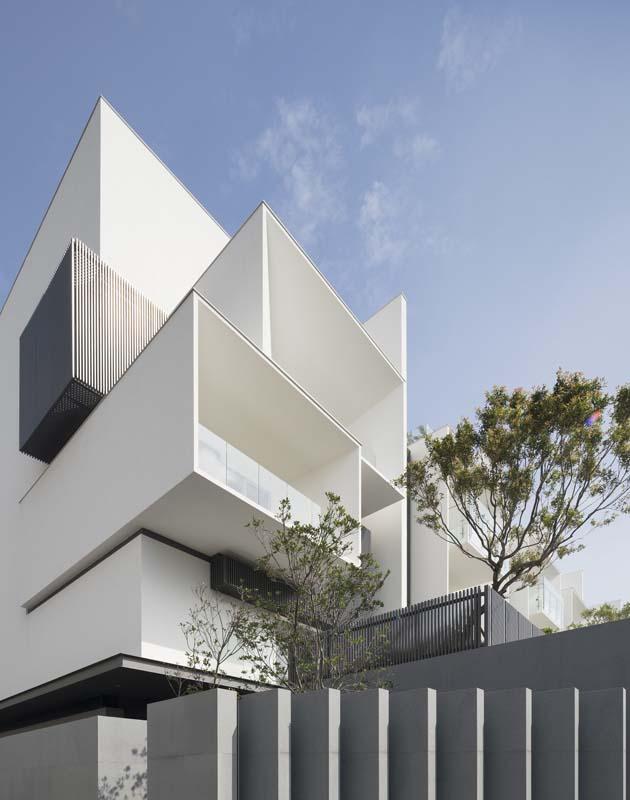 Mẫu kiến trúc đẹp cho nhà phố liền kề