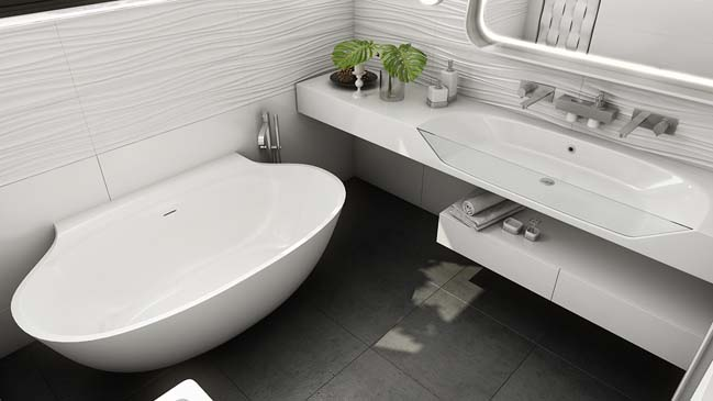 Mẫu thiết kế nhà đẹp với nội thất trắng tinh tế
