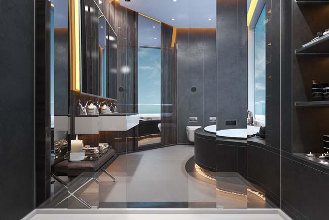 thiet ke phong tam sang trong 02 Mẫu thiết kế phòng tắm sang trọng xa xỉ với ánh sáng tuyệt đẹp