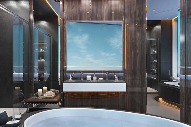 thiet ke phong tam sang trong 03 Mẫu thiết kế phòng tắm sang trọng xa xỉ với ánh sáng tuyệt đẹp