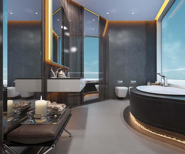thiet ke phong tam sang trong 05 Mẫu thiết kế phòng tắm sang trọng xa xỉ với ánh sáng tuyệt đẹp