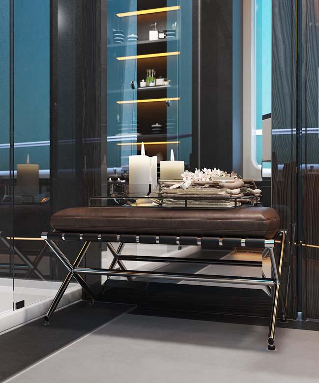 thiet ke phong tam sang trong 06 Mẫu thiết kế phòng tắm sang trọng xa xỉ với ánh sáng tuyệt đẹp