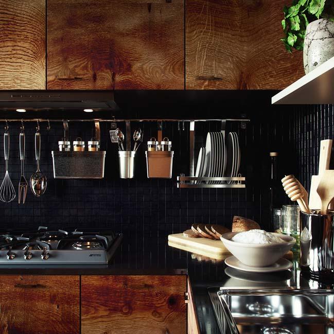 Mẫu thiết kế nhà bếp nhỏ đẹp với tông màu gỗ mộc mạc
