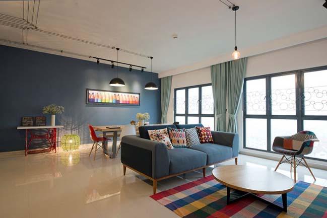 Mẫu căn hộ với các không gian mở đầy màu sắc