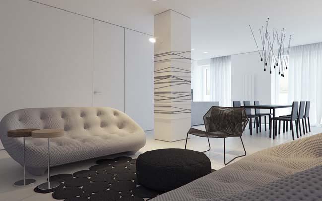 Trang trí căn hộ chung cư với phong cách tối giản