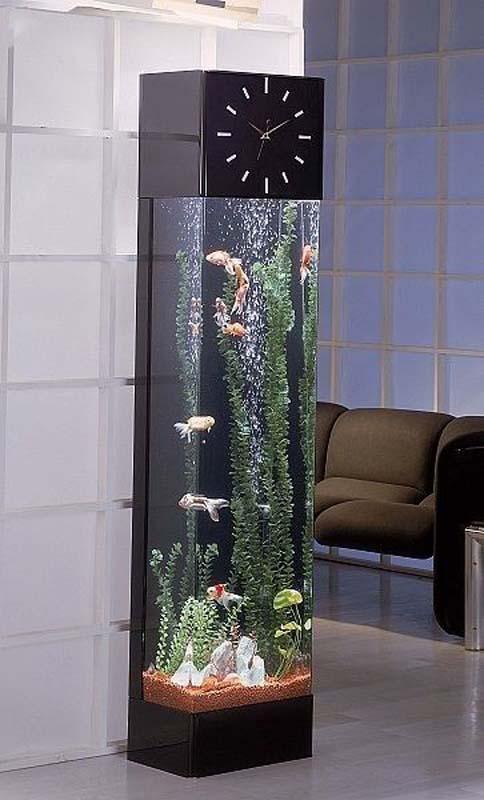 Thiết kế đồ nội thất độc đáo tích hợp hồ cá bên trong